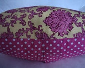"ShaBBy CHiC 18"" PILLOW COVER Pink Yellow CoTTage French Boho Print SHaM"