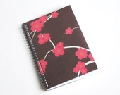 Large Coupon Organizer with 14 Pockets - Pre Printed Labels Included - Brown Cherry Blossoms