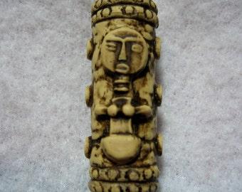 Dread Bead  Ivory Tribal Bead  You Choose Hole Size