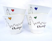 Sweet Chicago Tea Cups Set of FOUR
