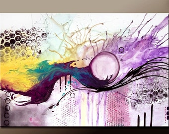 ABSTRACT Canvas Art Painting - Original Custom Made to Order Modern Contemporary Fine Art Painting by Destiny Womack - dWo -36x24