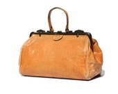 Vintage Italian Ostrich Leather Hand Bag
