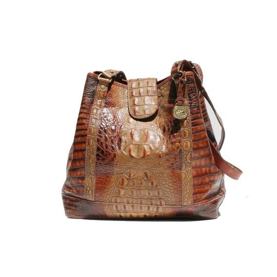 Brown REPTILE Hand / Shoulder Bag