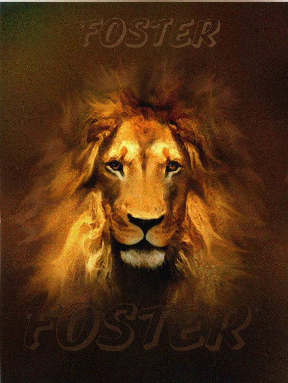 Leo Art Lion Art Lion Painting Lion Print Golden King By