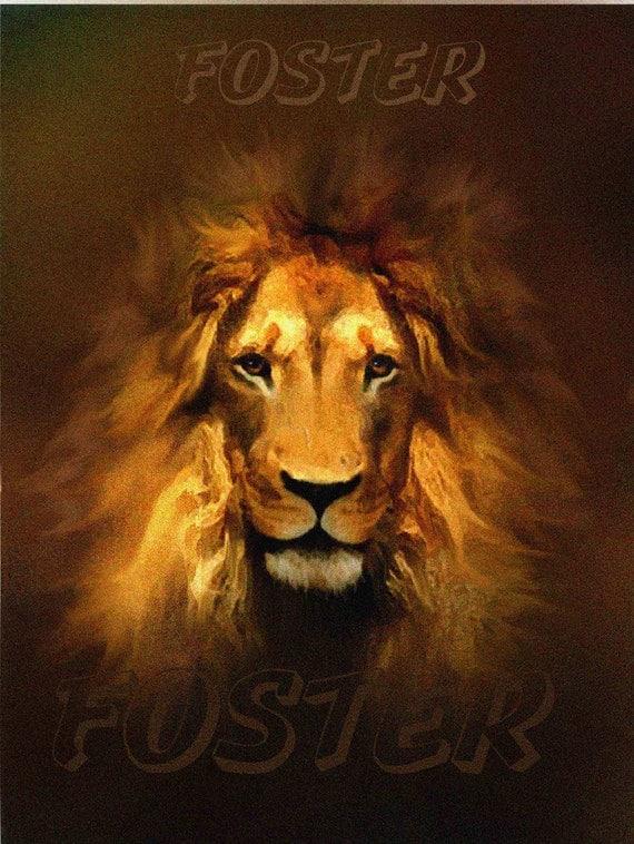 Lion Art Print Painting Wildlife Animal Leo Zodiac By