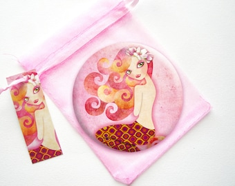 Coraleen Mermaid Series 3.5 inches Pinback Button