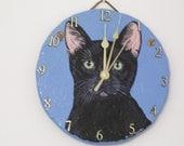 Black Cat Battery Operated Clock