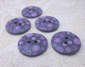 5 Purple Circles Pattern Buttons