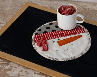 Snowman Mug Mat- Download Pattern