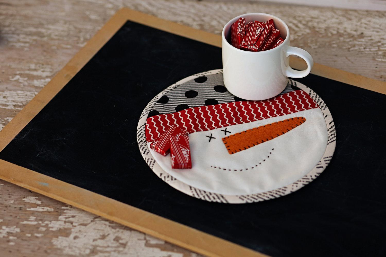 Snowman Mug Mat Download Pattern