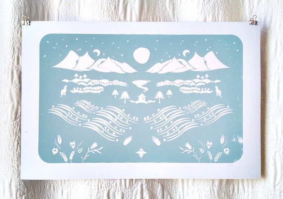 Mountain Farm Screen Print