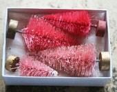 Reserved for Jennifer GLITTERED Sweetheart Pinks Candyland Bottle Brush Trees