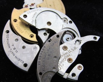 Destash Steampunk Watch Clock Parts Movements Plates Art Grab Bag PR 7