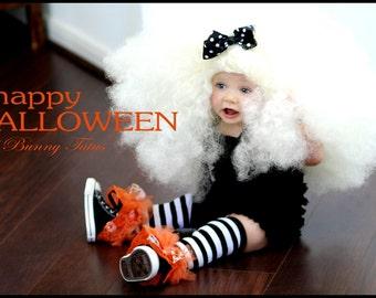 Girls Ruffle Tutu Leg Warmers - Perfect for Birthday, Costume, Photo Prop, Dress up, Fits Girls 6M-6X - Halloween Ruffle Tutu Leg Warmers