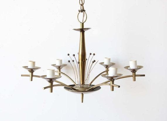 Atomic Brass Hanging Chandelier