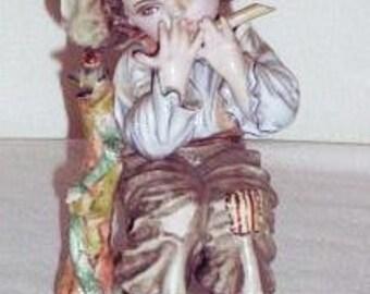 Vintage Lipper & Mann Little Boy Figurine, Rare Little Boy Flute Player Figure, Rare Vintage Figurine, Vintage Boy Figurine