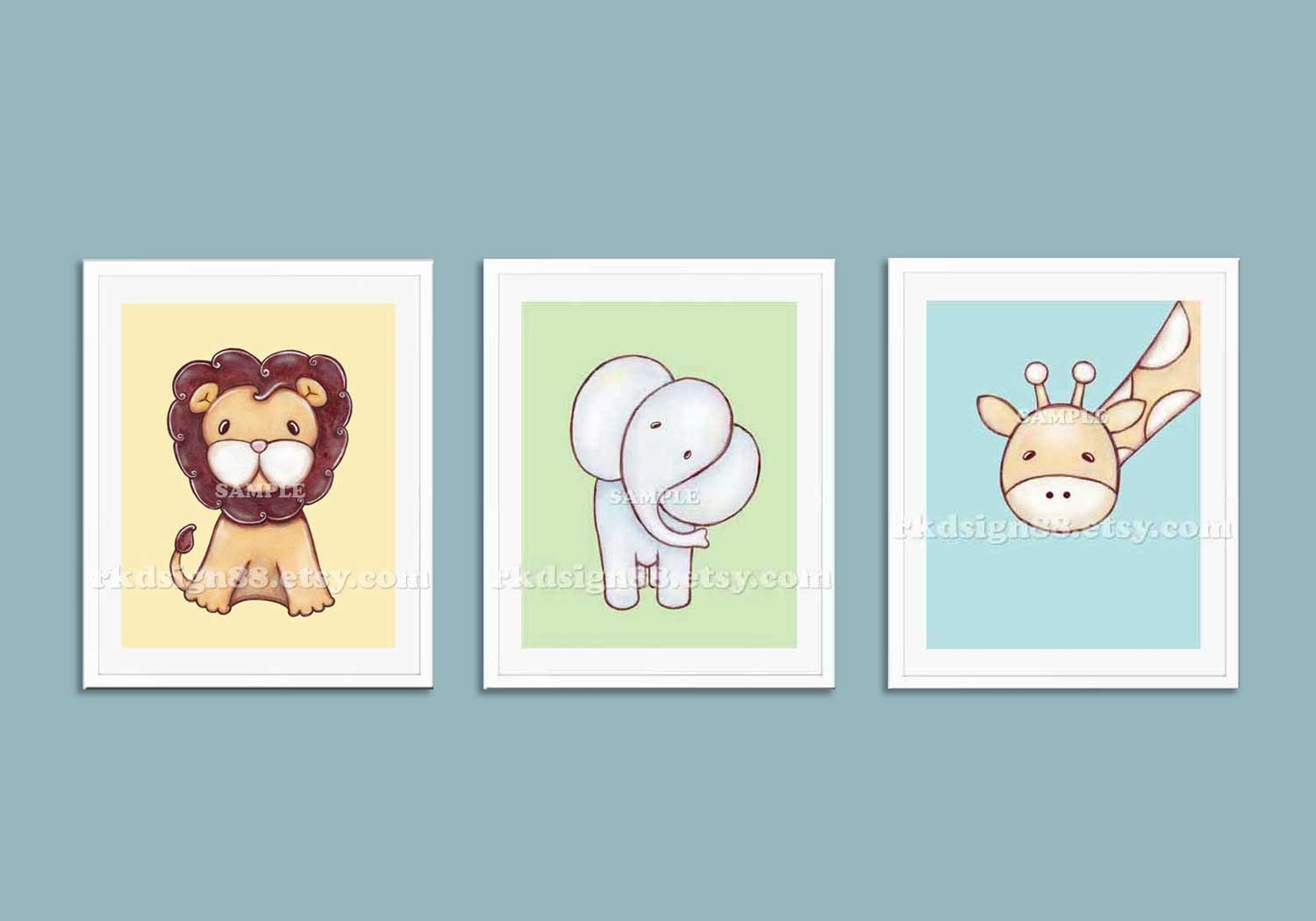 Childrens Wall Art Nursery Art Prints Baby Boy Nursery Decor Safari