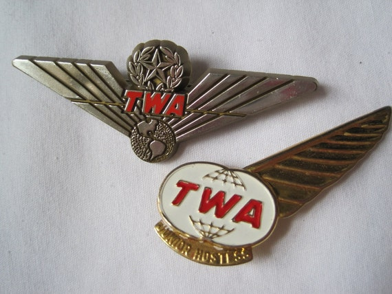 Vintage TWA Pins - Flight Attendant Brooches
