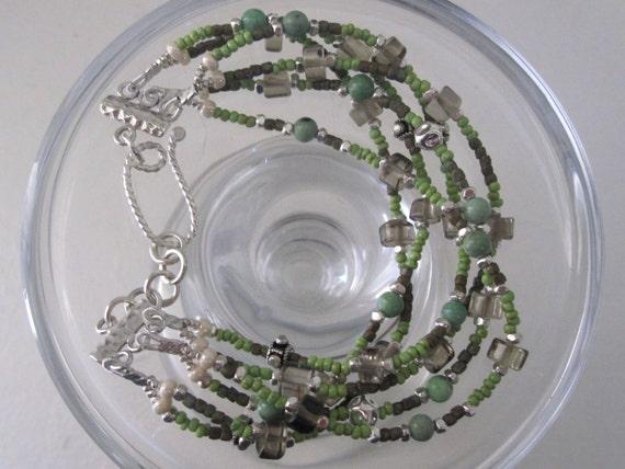 Multi Strand Woodland Bracelet