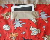Vendor Teacher Half Waist Craft Art iPad Apron Pockets Cats Kittens Fabric (4 Pockets)