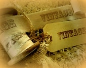 OLD WORLD STYLE - Vintage Hand Stamped Ribbon Trim