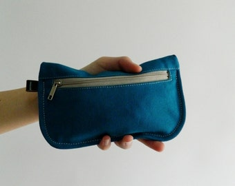SALE SALE SALE  20% Sale -  // D- Pouch in Teal // Wallet / clutch / cosmetic bag / iphone case /  travel / Women /  Pouch