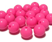 10mm Opaque acrylic plastic beads in Bubblegum Pink 20 beads
