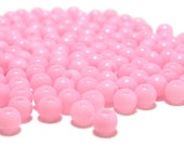4mm Smooth Round Acrylic Beads in Baby Pink 200 pcs