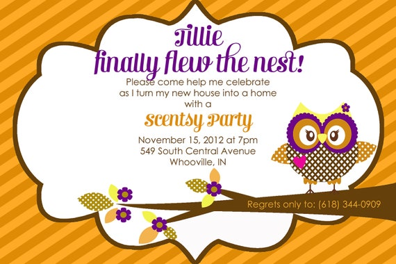 Watch more like Scentsy Party Invitation Template – Scentsy Party Invitation