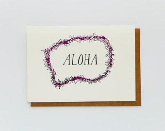 Aloha Lei Card