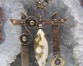 "My ""Pagoda"" Ocean Jasper Gemstone Necklace and Earrings"