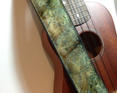 Vegan Ukulele Strap-Siren Song-LIMITED Pattern-music-gifts for musicians-handmade-canvas-unique gifts-boyfriends-girlfriends-cool gifts