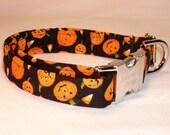 Jack-o-Lantern Halloween Dog Collar by Swankypet