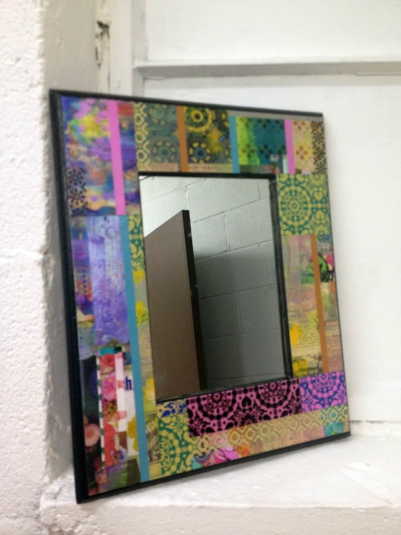 One of a Kind Funky and Colorful Wall Mirror by BethNadlerArt