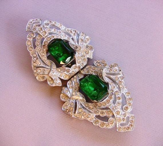 Vintage Art Deco Emerald Green Color By Deloreansantfarm