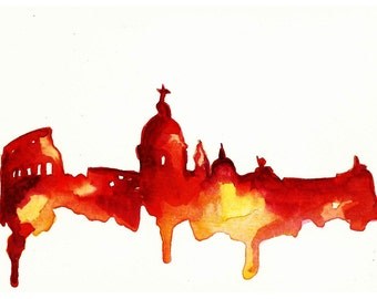 Rome Watercolor Print