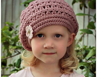 Download Now - CROCHET PATTERN Mia Beret - Sizes Baby to Adult - Pattern PDF