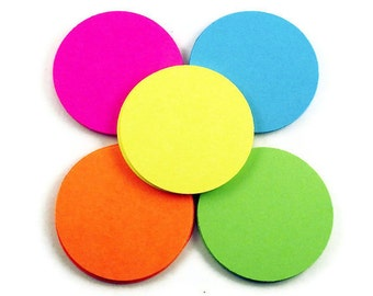Paper Die Cut Circles  3 inch Circles in  South Beach Set of 25