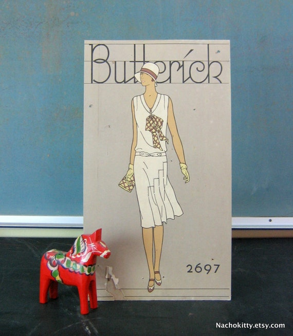 1920 Store Counter Display Butterick Flapper Girl Pattern Stand Up Display