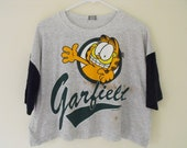 Vintage Garfield Baseball Cut-Off T-Shirt