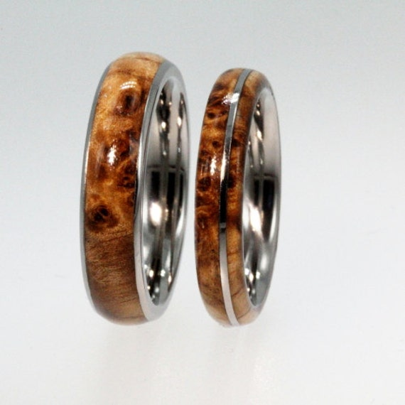 Wooden Wedding Bands Wood Wedding Ring Set Black By