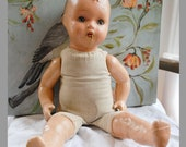HaLf PrIcE SaLe Antique Doll Composition Cloth Body Sleepy Eyes AS FOUND