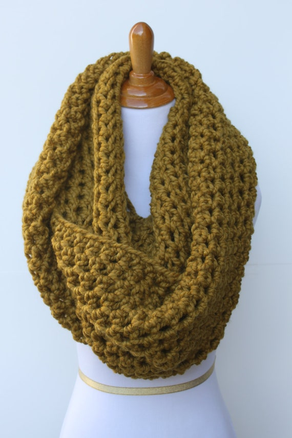 Oversized Infinity Scarf or Chunky Huge Snood in Snapdragon or Choose Color - Ready to Ship