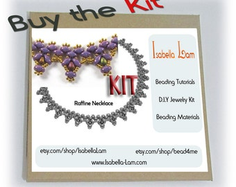 Raffine SuperDuo Beadwork Necklace DIY Beading Kit Tutorial