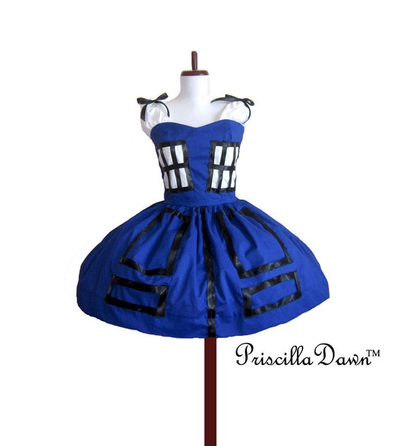 TARDIS Dress Doctor Who dress --------Custom In Your Size PriscillaDawn
