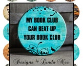 Pinback BUTTON Images 1.5 inch round 1.837 overall size - Book Nerd 1 Digital Collage Sheet AMERICAN BUTTON Machine Tecre 1.313 1.629 2.088