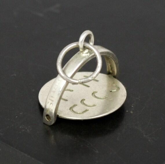 Vintage Spinner Charm, Good Luck, Sterling Silver, Bracelet Charm