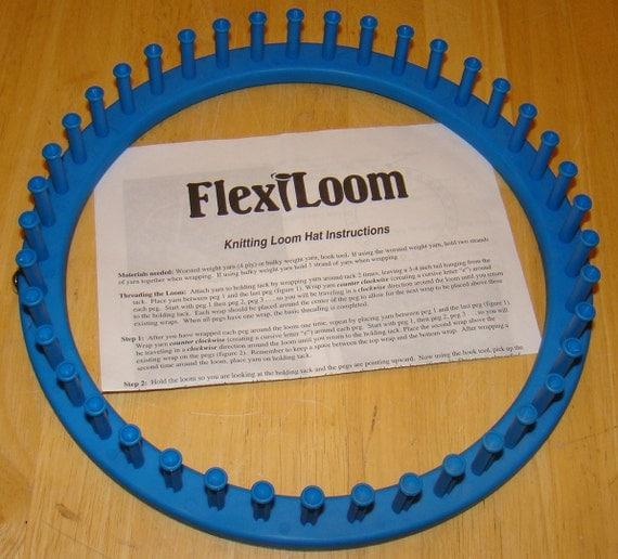 Blue Flexi-Loom : Flexible Round Knitting Loom