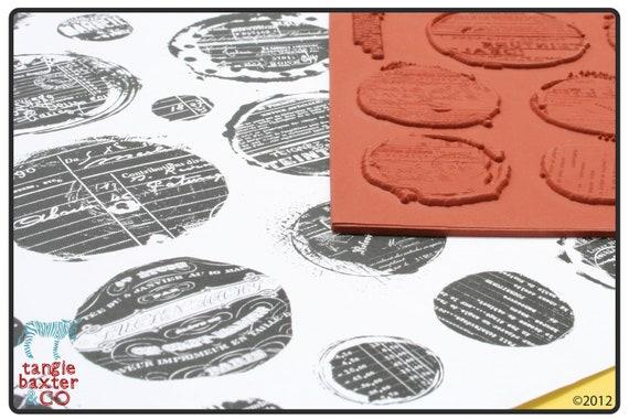 Splatter Graffiti Set 003 Grunge Rubber Stamps