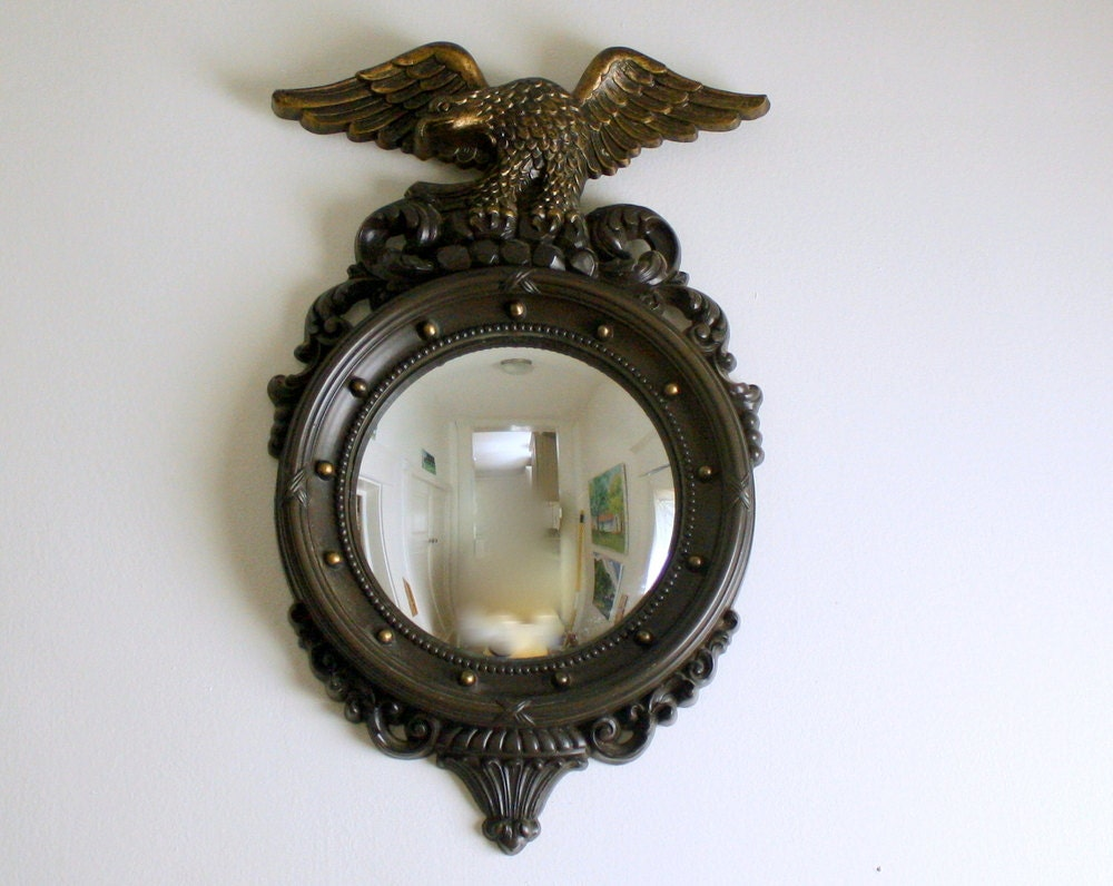 Vintage eagle mirror porthole nautical style for Porthole style mirror